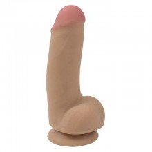 Фаллоимитатор на присоске «CyberSkin Real Man Wide Load» от компании Topco Sales, цвет телесный, 1101286 TS