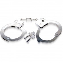 Наручники «Limited Edition Metal Handcuffs» из коллекции Fetish Fantasy от компании PipeDream, цвет серебристый, PD4408-00