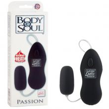Виброяйцо «Body & Soul Passion Black», цвет черный, California Exotic 0040-15BXSE
