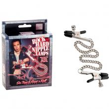 Цепочка для груди «Phil Varone Rock Hard Nipple Clamps Black» 2975-40BXSE