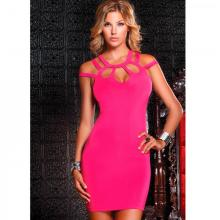 Kоктейльное платье «Dress With Cutout Chest Pink», размер L 882673-PINK-L