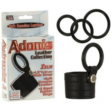 Сбруя-утяжка на член «Adonis Zeus Leather Cockring» 1367-50BXSE