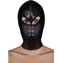 Маска на лицо Ouch «Extreme Leather Hood with Ribon Ties», Shots Media SH-OU177BLK