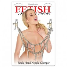 Зажимы для сосков Fetish Fantasy «Rock Hard Nipple Clamps Silver», PipeDream 362426PD
