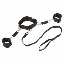 Ошейник с наручниками «Bondage Collection Collar and Wristbands», размер Plus Size, Lola Toys 1058-02Lola