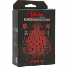 Зажимы на соски Kink «Chain - Nipple Clips With Heavy Chain and Silicone Tips», 2404-05 BX DJ