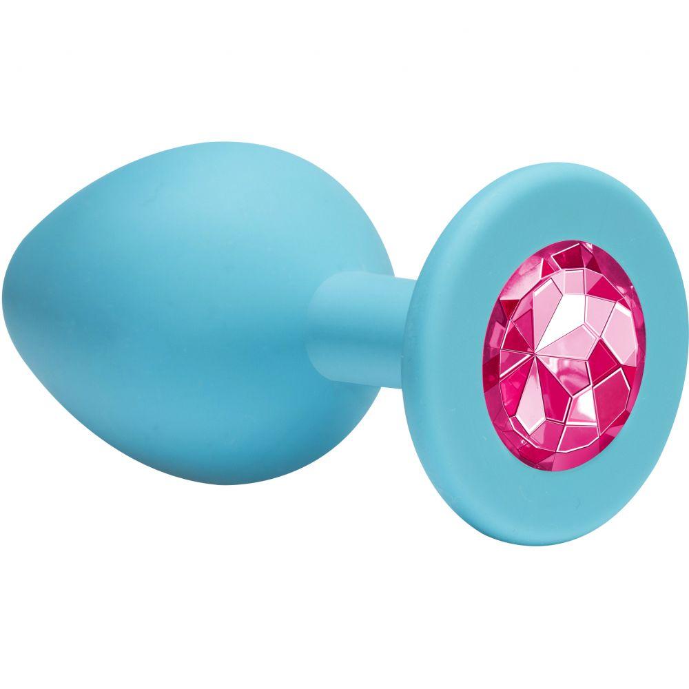 Lola Toys Emotions Cutie Small, розовая Анальная пробка с черным кристаллом